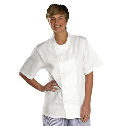 Click Chefs Short Sleeve White Jacket